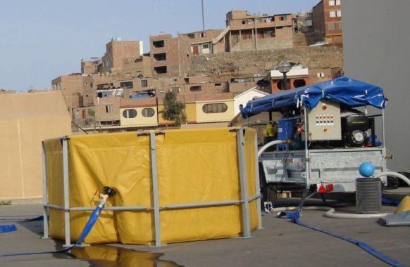 Unité de traitement d'eau mobile