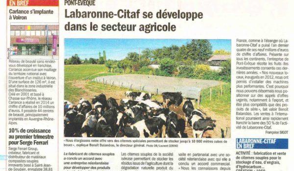 Article Le Dauphiné Libéré – 3 mai